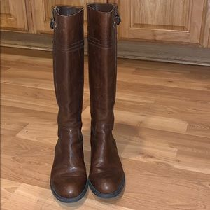 Franco Sarto brown leather tall boot size 8